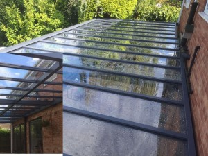 Glazed Polycarbonate Canopy